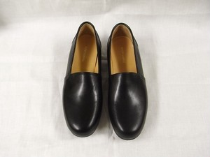 slip on kipleather shoes / black
