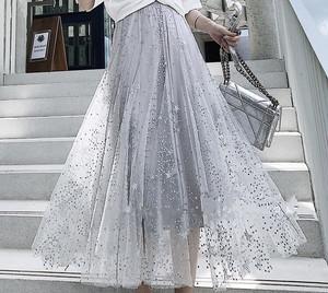 スター刺繍チュールスカート☆