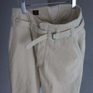 tanker work corduroy pants / ivory