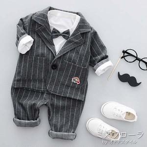 【予約】ベビー フォーマル 男の子 セパレート セレモニー おしゃれ リボン 可愛い 長袖 3点セット