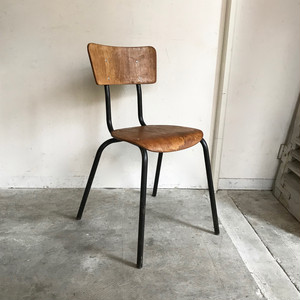 Plywood School Chair 1960's オランダ