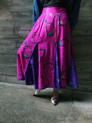 Jeanne marc jewelry print skirt ( ジェーンマーク ジュエリー柄 スカート )