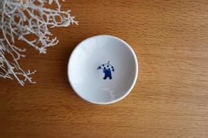 砥部焼/丸小皿/雨降り/森陶房kaori