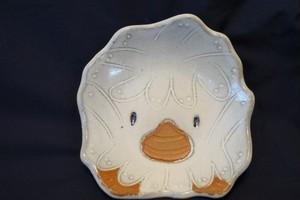 2枚【笠間焼】アライッペ(©大洗町)の小皿 (大洗町のイメージキャラクター)【2枚セット】