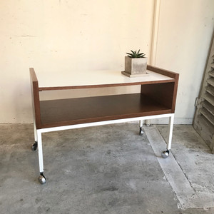 Wengé Wood Caster Table 1960's オランダ