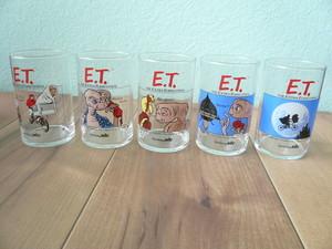 1982年 E.T グラスセット 5個 / サントリー ノベルティ 映画 シネマ 80s OLD スピルバーグ