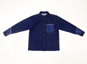 20SS 刺し子風インディゴドビーシャツ / Sashiko like indigo dobbie shirts