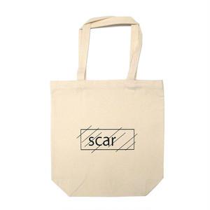 scar /////// OG LOGO STANDARD TOTE BAG / MEDIUM (Natural)