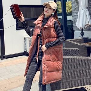【トップス】ダウンコート韓国風ベルベットルーズベスト