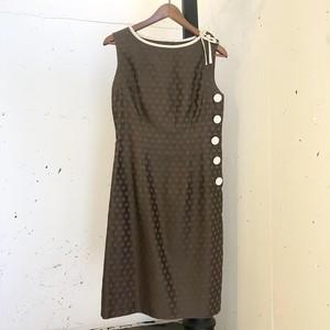VINTAGE brown dot dress