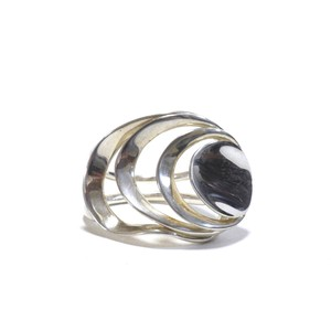 Robert Lee Morris Vintage Sterling Silver Echos Ring