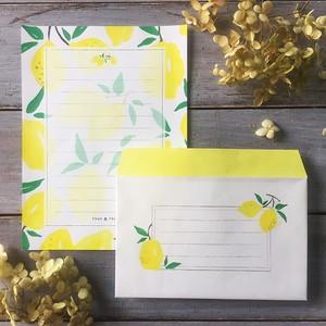 レターセット【便箋10枚・封筒5枚】レモン