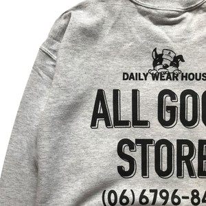 ALL GOOD STORE / AGS DOGGY LOGO Sweat / Gray