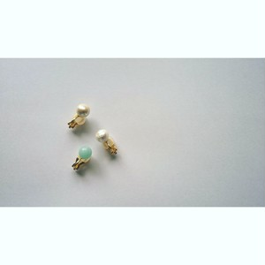 Maru Earings amazonite(Blue) by Ui Japan