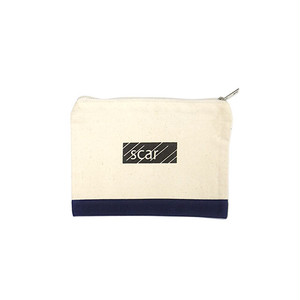 scar /////// BLACK BOX TOOL POUCH (Small) (Natural / Navy)