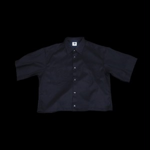 『GEN  IZAWA』 ショートオーバードレスシャツ(ブラック)