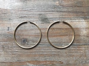 【14kgf】Gold hoops 65mm