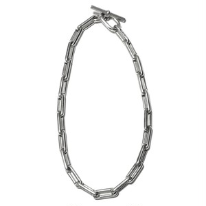Hermès Collector Vintage Sterling Silver Chain Link Toggle Necklace