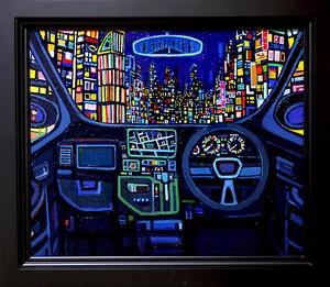 油彩画 | 夜のドライブ | OIL x CANVAS  2018