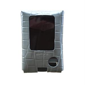 フリースタイルリブレ レザーケース gray croco