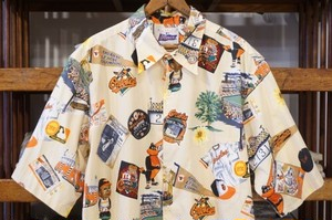 """00's REYN SPOONER cotton MLB s/s Shirt """"ORIOLES"""""""