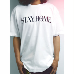 【期間限定/メール便送料無料】Life is a Journey STAY HOME LOGO PRINT TEE【品番 20tee000】