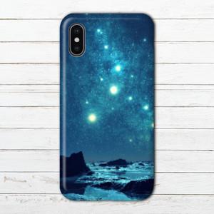 #000-046 iPhoneケース スマホケース おしゃれ メンズ エクスペリア iPhoneXS/X Xperia iPhone5/6/6s/7/8 ケース 宇宙 セール Galaxy ARROWS AQUOS タイトル:星から見た星々