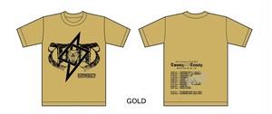 T△▽T  Tシャツ GOLD