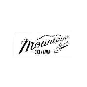 Mountain オリジナルロゴ  長方形ステッカー 150✖️60 ホワイト
