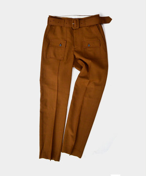 DAIRIKU Bush Detail Wool Slacks with Velt Soil