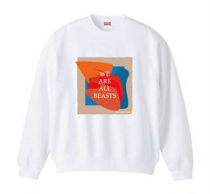 """We Are All Beasts"" Sweat  -Masaya Mifune Design-"