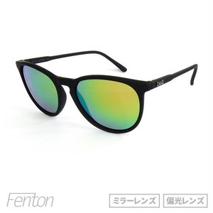"サングラス「DANG SHADES」""FENTON"" SOFT TOUCH BLACK x PINK FIRE MIRROR POLARIZED 【ミラーレンズ】【偏光レンズ】"
