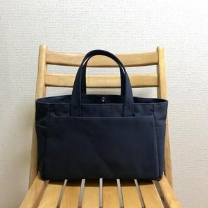 「ボックストート」横長サイズ 「ネイビー(紺)」帆布トートバッグ 倉敷帆布8号