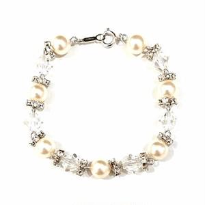 ウェディング ブレスレット pearl-102-1Rsingle