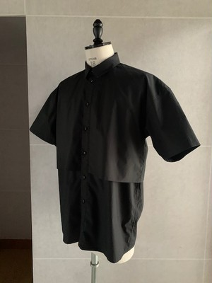 POLYPLOID HALF SLEEVE SHIRT C BLACK