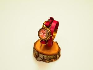 【限定】千代紙文字盤の二重巻時計