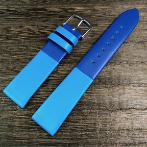 BAMBI カラーブロック 2トーン ストラップ  ブルー/ターコイズ 18mm 腕時計ベルト