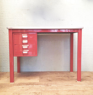 """Gispen"" Industrial Metal Desk Holland Vintage 60's"