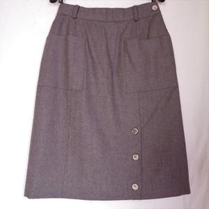 CHANEL Tight Skirt -Grey-