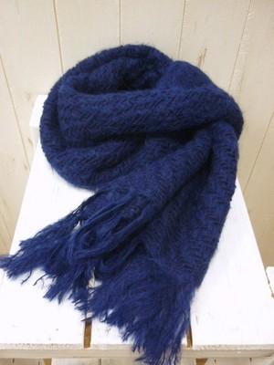 SALE!! Wool×Suri Alpaca Stole/Peru Knit (ウール×スリアルパカ ストール/ユニセックス)
