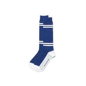 WM BOX LINED FOOTBALL SOCKS-NAVY
