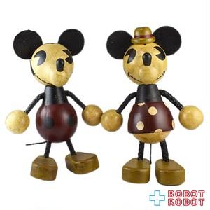 ヤングエポック ディズニー ミッキーマウス ミニーマウス 木製 フィギュア セット