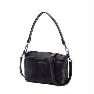 PU Leather Handbag Messenger Bag Multi Pocket Crossbody Shoulder Bag Two Strap ショルダーバッグ レザー クロスボディ ハンドバッグ メッセンジャーバッグ ストラップ2つ ポケット多め マルチポケット (AG99-7508098)