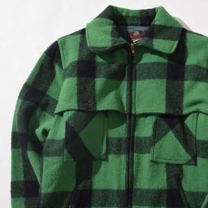 【Lサイズ寸】JOHNSON ジョンソン WOOL CHECK JACKET チェックジャケット GREEN グリーン 44 400610191027