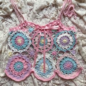 【sugar psy】crochet knit camisole M