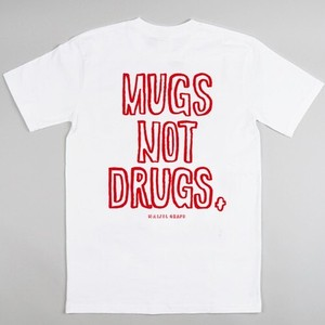 NAIJEL GRAPH x COFFEE SUPREME ''MUGS NOT DRUGS'' Tシャツ (Lサイズ)ホワイト tシャツ
