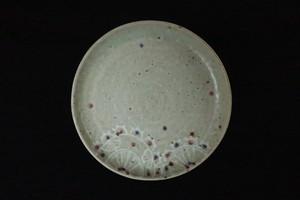 綿摘み陶房 レース紋6寸皿(ピンク)