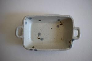 原田晴子|耳付き四角小鉢