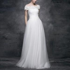 ロマンチックチュールのスレンダードレス*