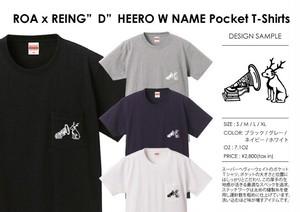 "ROA x REING""D""HERO W NAME Pocket T-shirts"